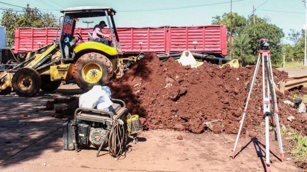 Comienza la primera etapa de obras públicas en la Av. Córdoba de Eldorado