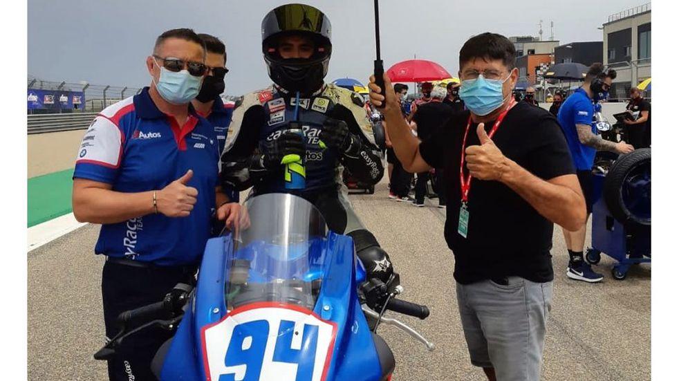 Andrés González se presentó en la tercera fecha del campeonato español de Superbike