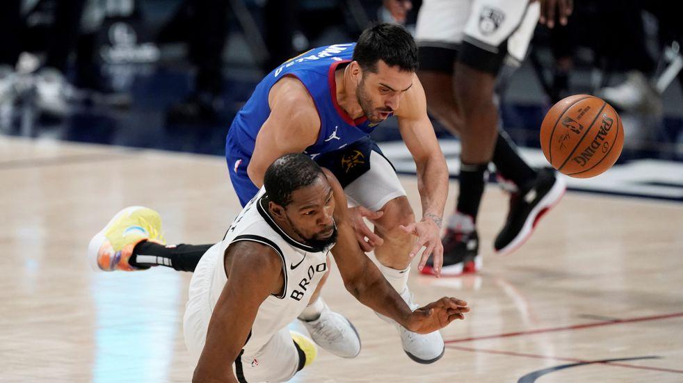 Facundo Campazzo iguala su récord de puntos en la NBA pero los Nuggets cayeron frente a Brooklyn