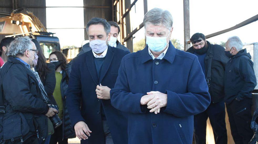Cabandié visitó La Pampa y entregó maquinaria para la gestión de los residuos