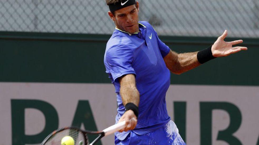 Del Potro derrotó en tres sets a Guido Pella y avanza en Roland Garros
