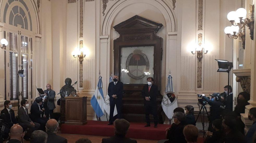 Morales condecoró a Álvarez García y denunció discriminación a Jujuy