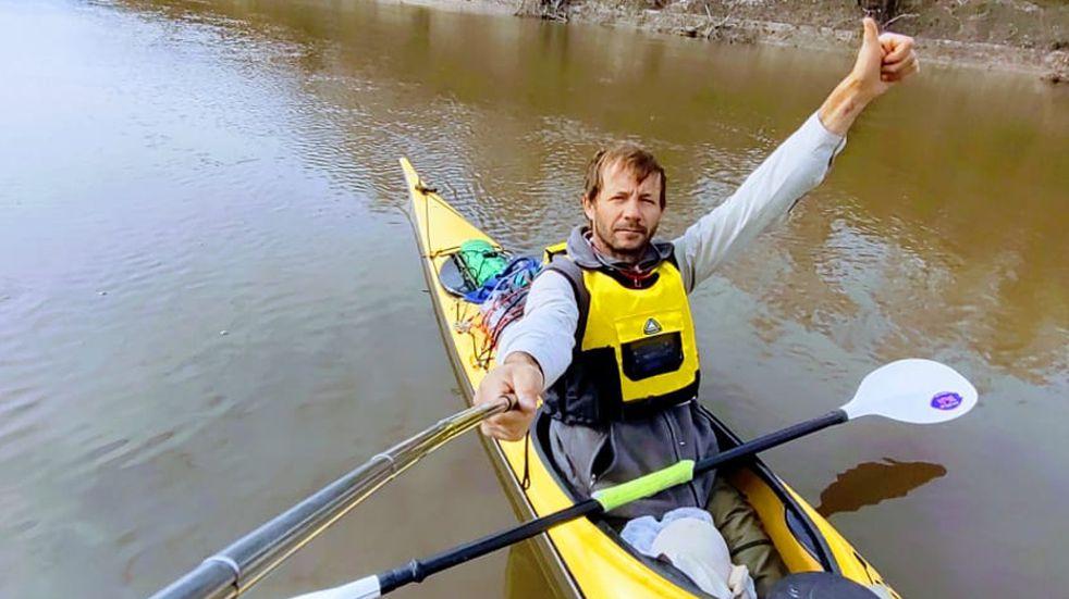 Un entrerriano recorrió 203 kilómetros en kayak por el Río Guayquiraró
