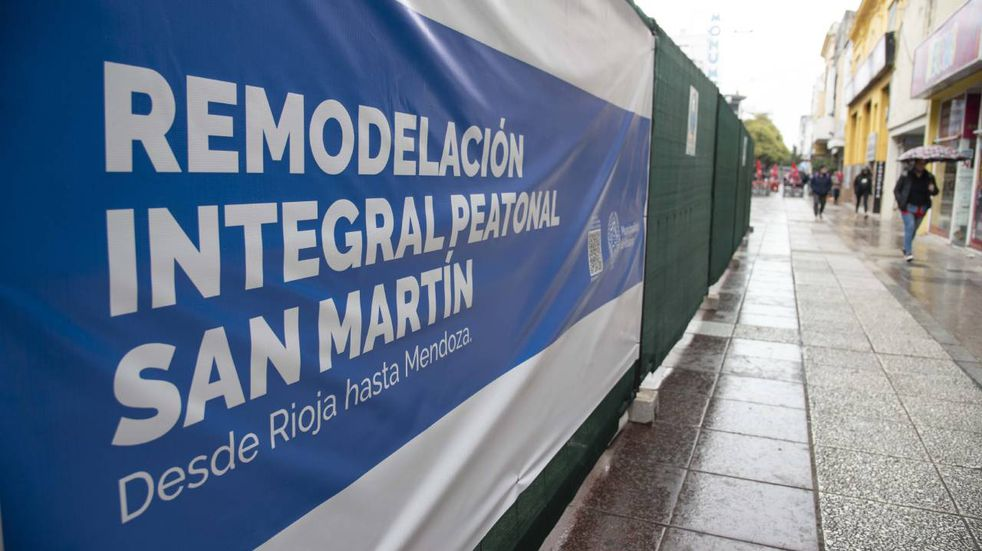 Comenzaron las obras de remodelación de peatonal San Martín