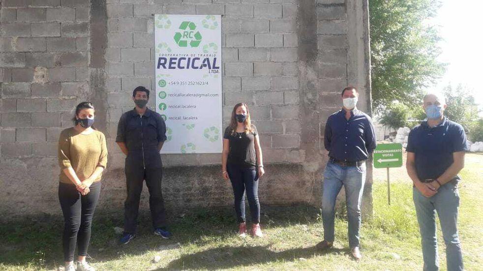 La Calera: el intendente de Las Varillas visitó Recical