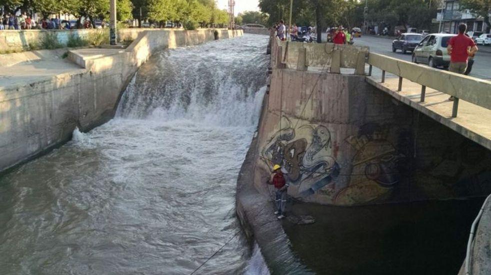 Canal Cacique Guaymallén. Imagen ilustrativa.