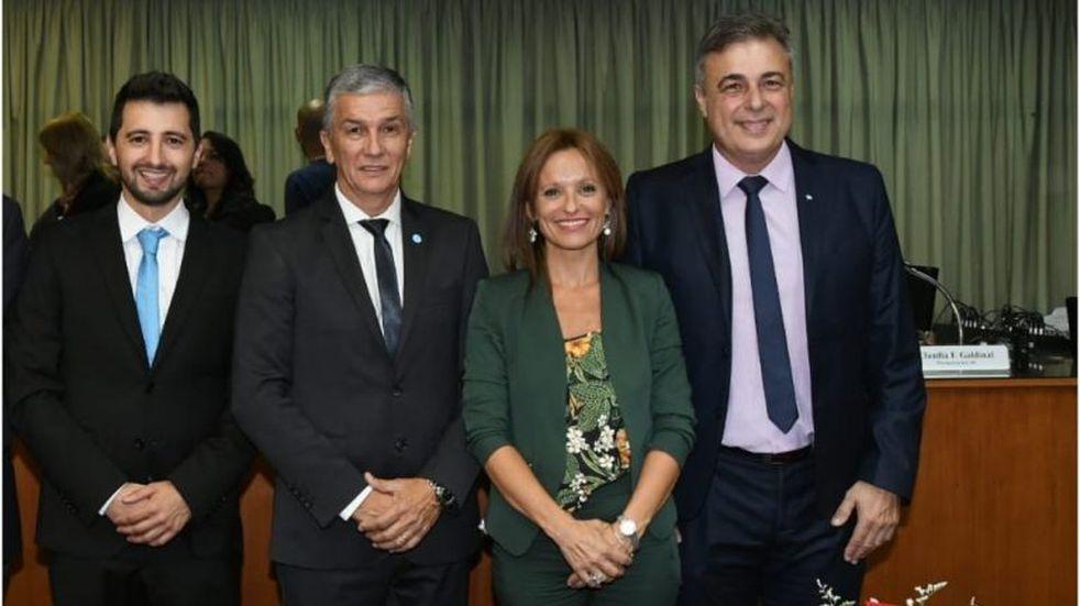 bloque de concejales del PJ Juan Senn Jorge Muriel Brenda Vimo Luis Castellano