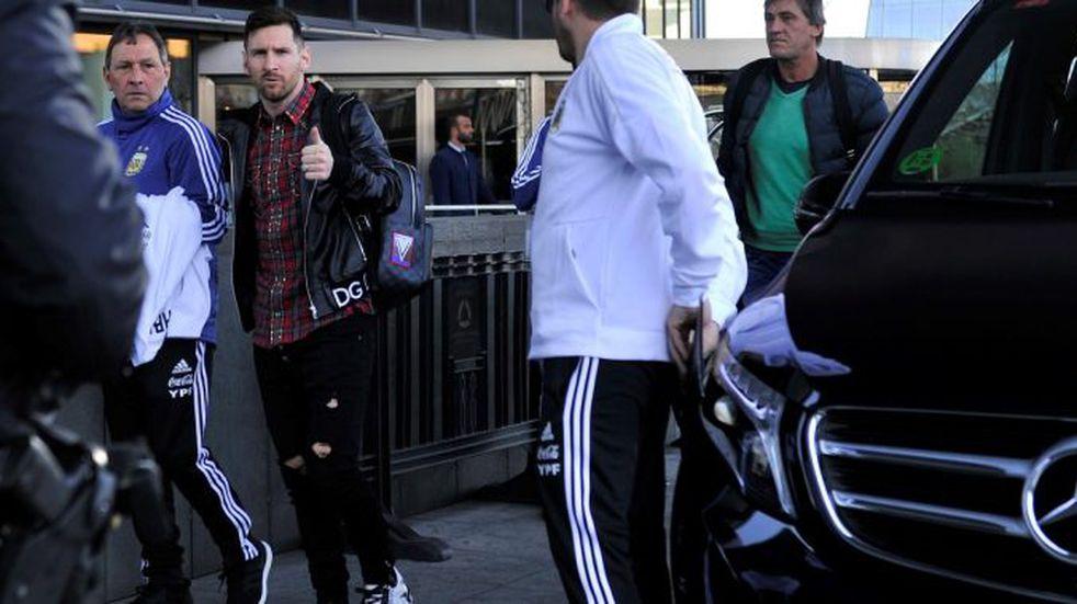 Lionel Messi llegó a Madrid para entrenar con la Selección Argentina