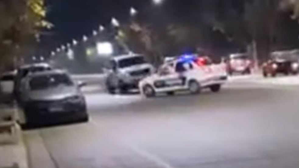 Video: persecución policial de película a la salida de un bar sanjuanino