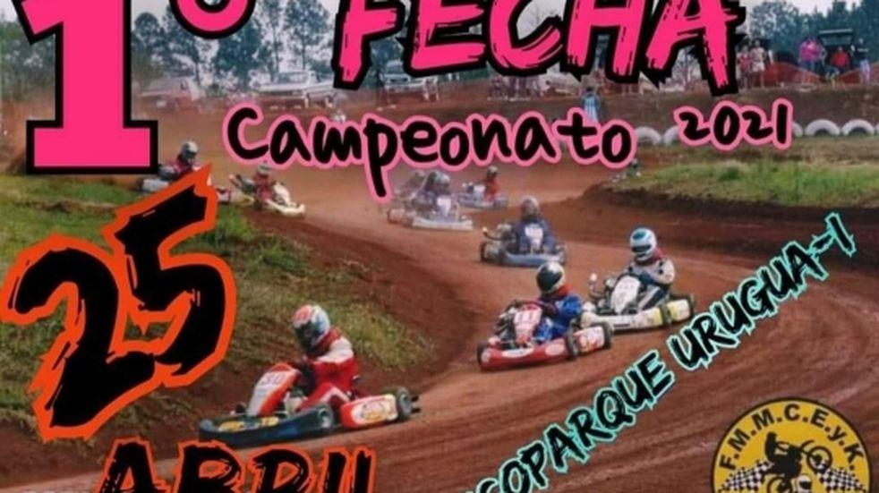 Campeonato de karting y motos de tierra en Puerto Libertad