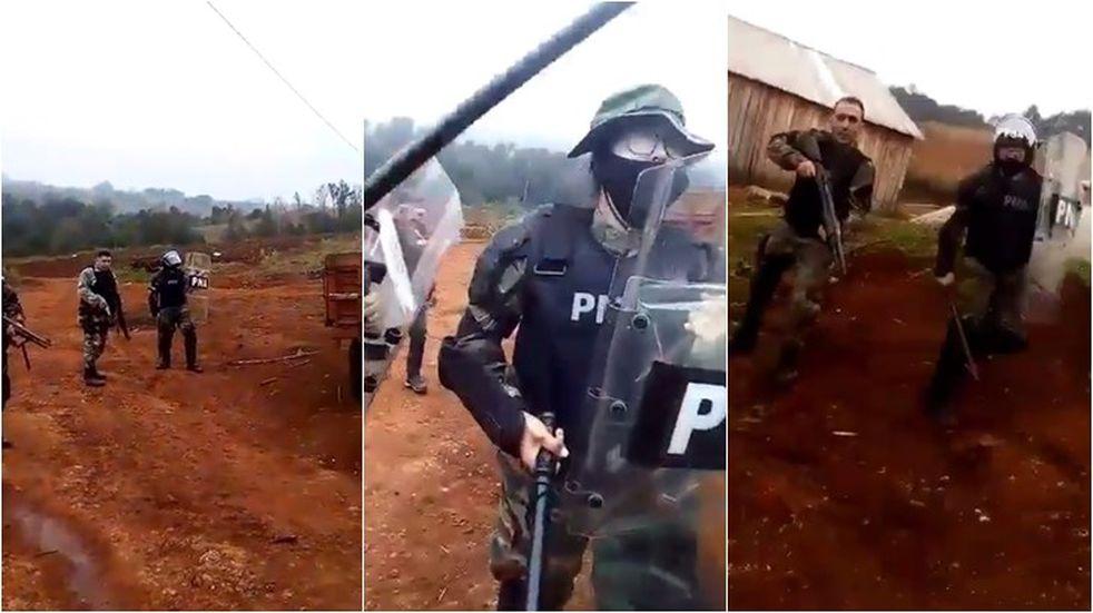 Colonos se enfrentaron a Prefectura durante un operativo por contrabando de soja del Brasil, y luego cortaron la ruta