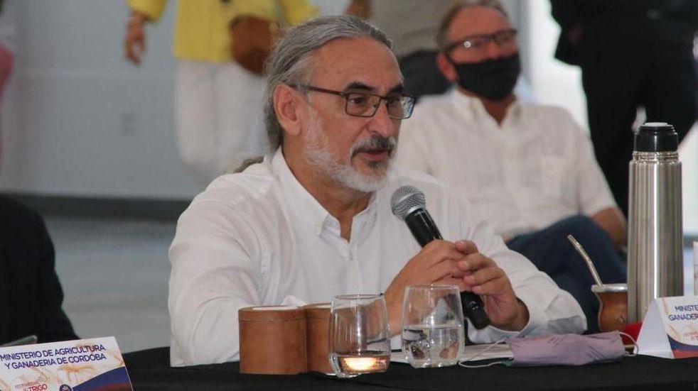 VISITA. El ministro Luis Basterra participó de la Mesa Nacional de Trigo. (Gobierno de Córdoba)