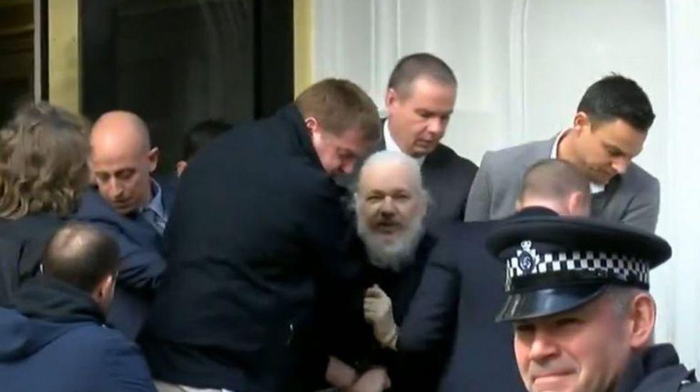 Captura de Julian Assange (Web)