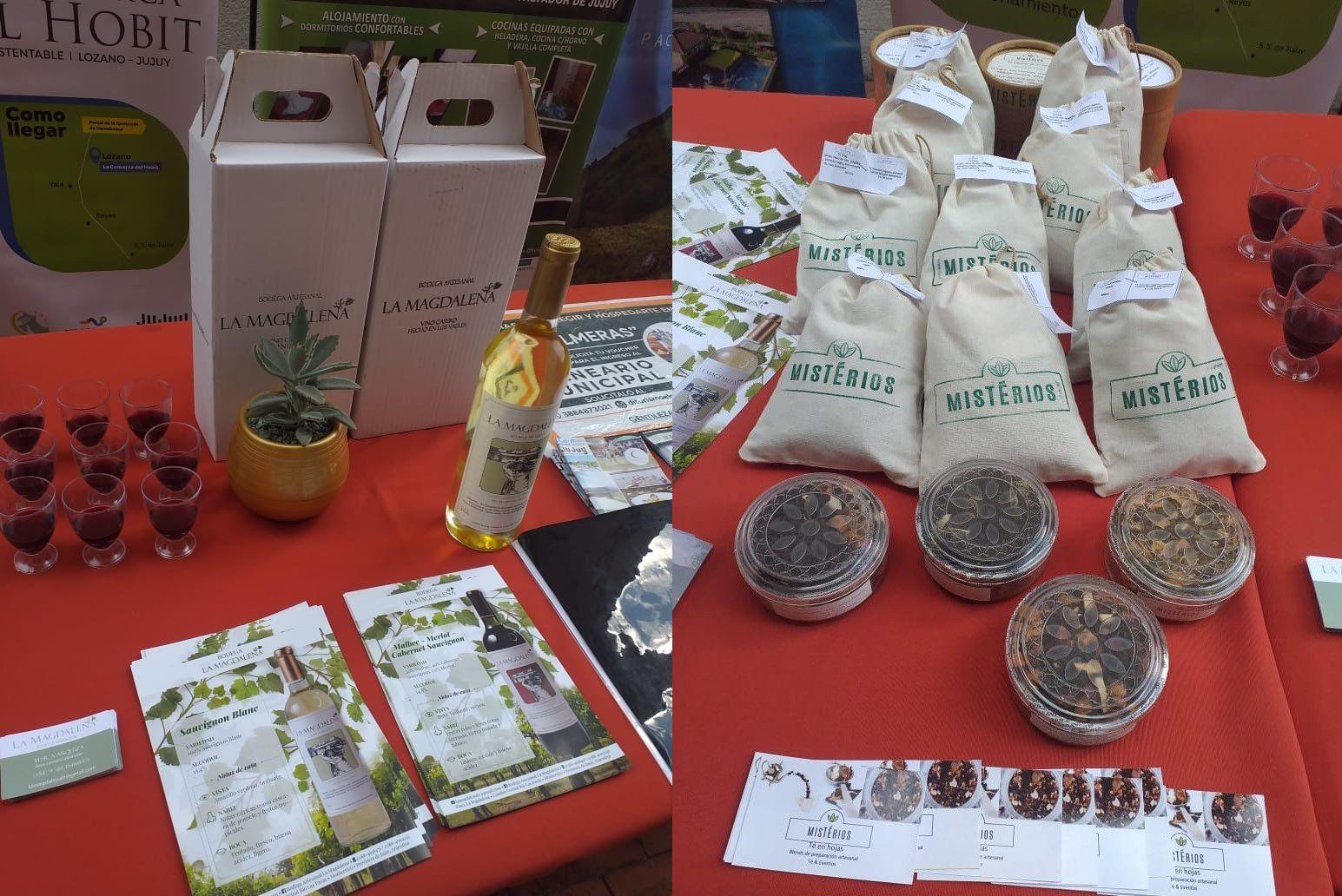 Miembros de la Red de Turismo Sostenible de Jujuy presentaron sus productos en la sede de la UEJ, en la capital provincial.