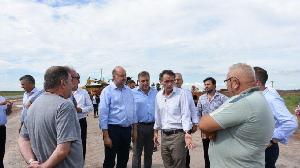 El ministro Gabriel Katopodis recorrió la obra de la autopista de la 34