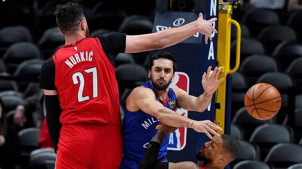 NBA: en un flojo partido de Campazzo, Denver puso 3-2 la serie ante Portland