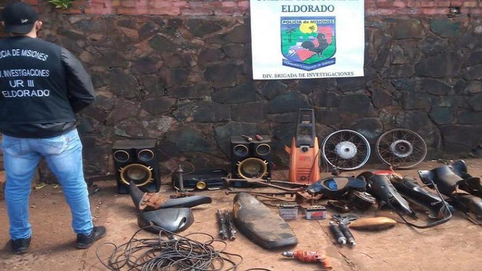 Allanamientos en Eldorado culminó con el secuestro de varios elementos robados