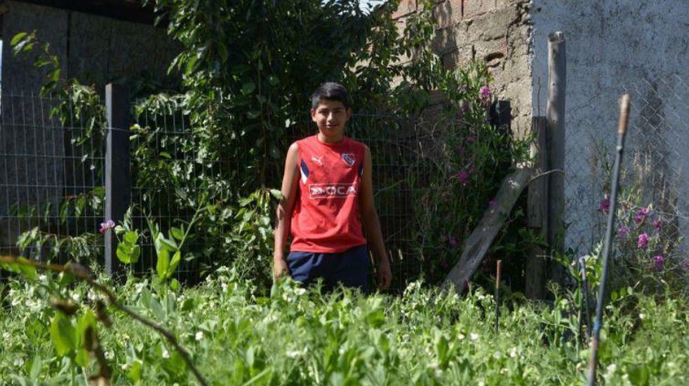 Se propuso armar una huerta en el patio de su casa y ahora alimenta a su familia con la cosecha