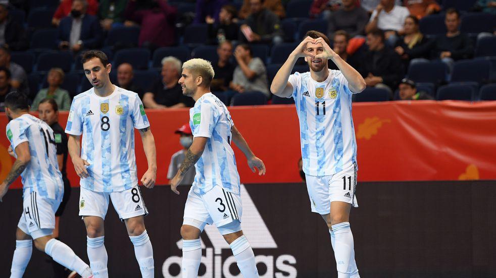 Mundial de futsal: Argentina arrancó la defensa del título con un 11-0 sobre Estados Unidos