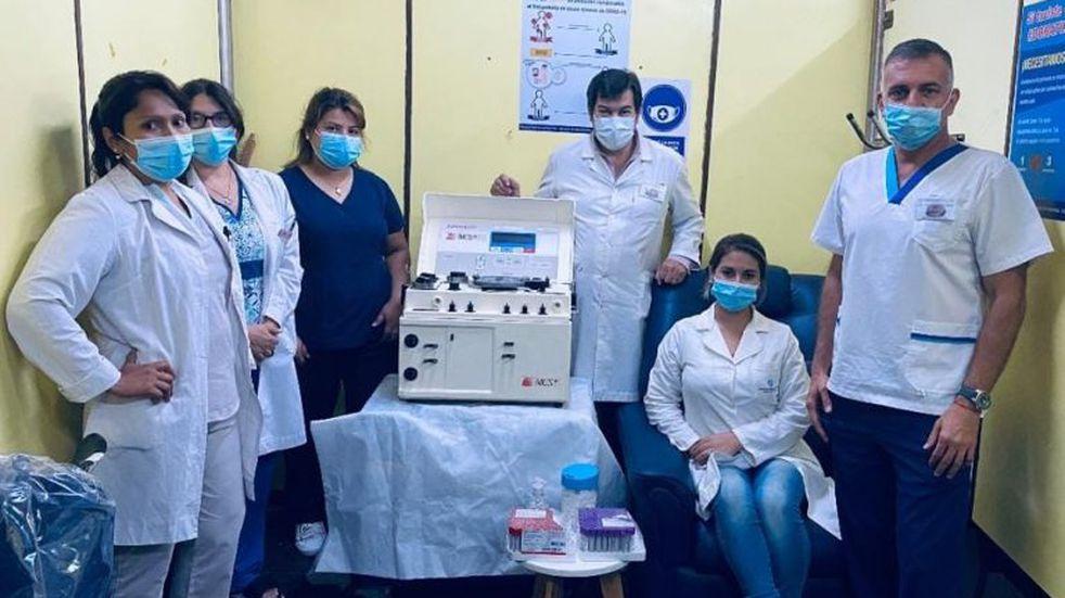 La máquina de extracción de plasma de Orán ya está en funcionamiento