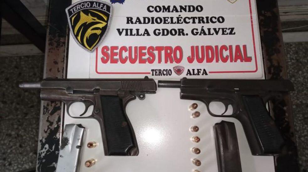 """Tras una persecución cayeron dos integrantes de la banda del """"Gordo Dani"""" por extorsión en Villa Gobernador Gálvez"""