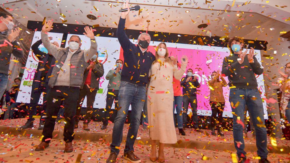 Elecciones en Jujuy: Gerardo Morales festejó el triunfo con Manes y Lousteau