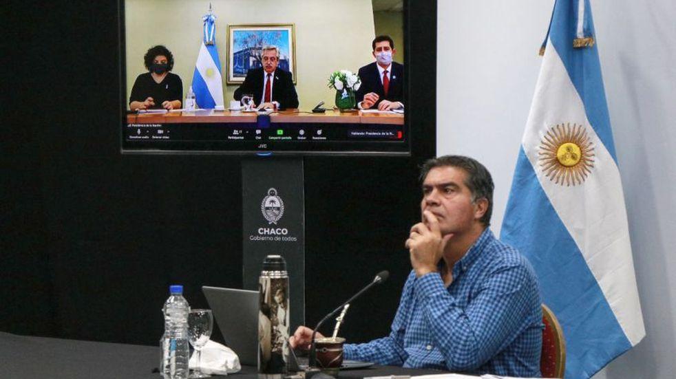 COVID-19: tras videoconferencia con el presidente, Capitanich anunció que habrá nuevas medidas para Chaco