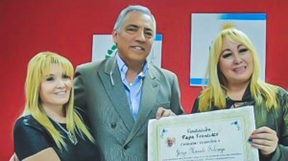 Jorge Soloaga fue distinguido por la Fundación Papa Francisco