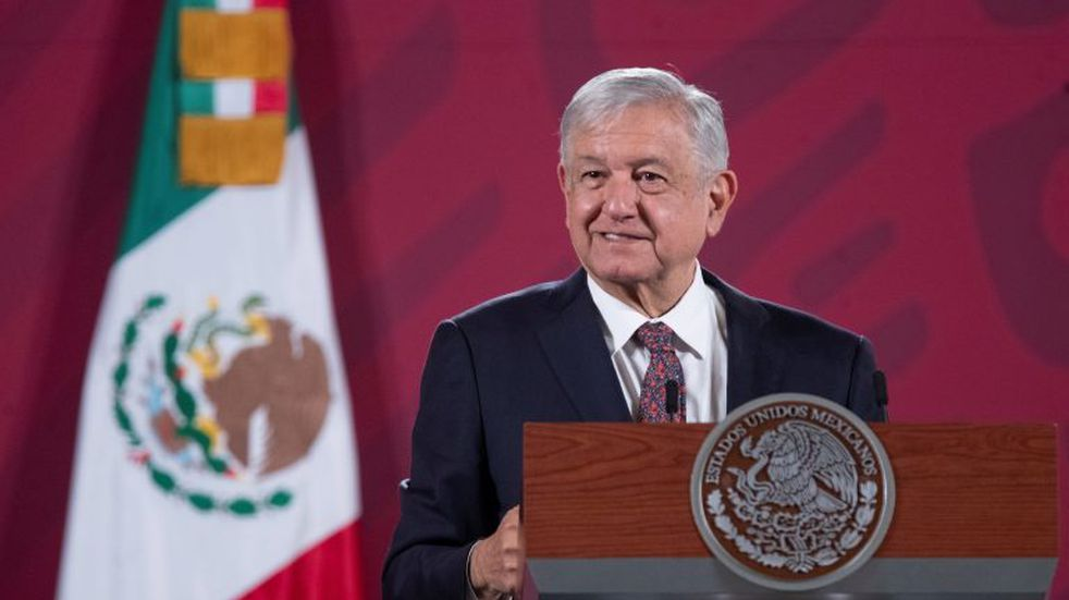 Ciudad De Mexico (Mexico), 02/10/2020.- A handout photo made available by the Presidency of Mexico of the President of Mexico Andres Manuel Lopez Obrador, during his morning press conference at the National Palace, in Mexico City, Mexico, 02 October 2020. The Mexican president considered that the migrant caravan that left Honduras in the last hours and advances through Guatemala was orchestrated and has the 'purpose' to influence the elections in the United States. (Elecciones, Estados Unidos) EFE/EPA/Presidency of Mexico HANDOUT HANDOUT EDITORIAL USE ONLY/NO SALES