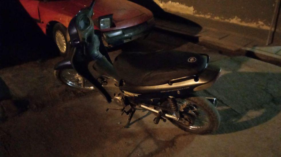 Secuestro de moto robada