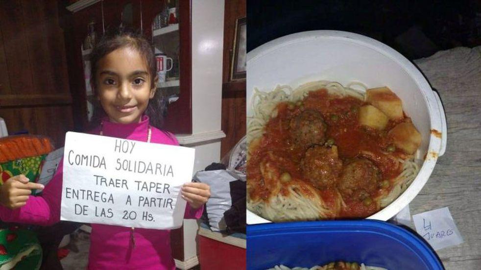 Época de solidaridad: una familia salteña cocina para sus vecinos