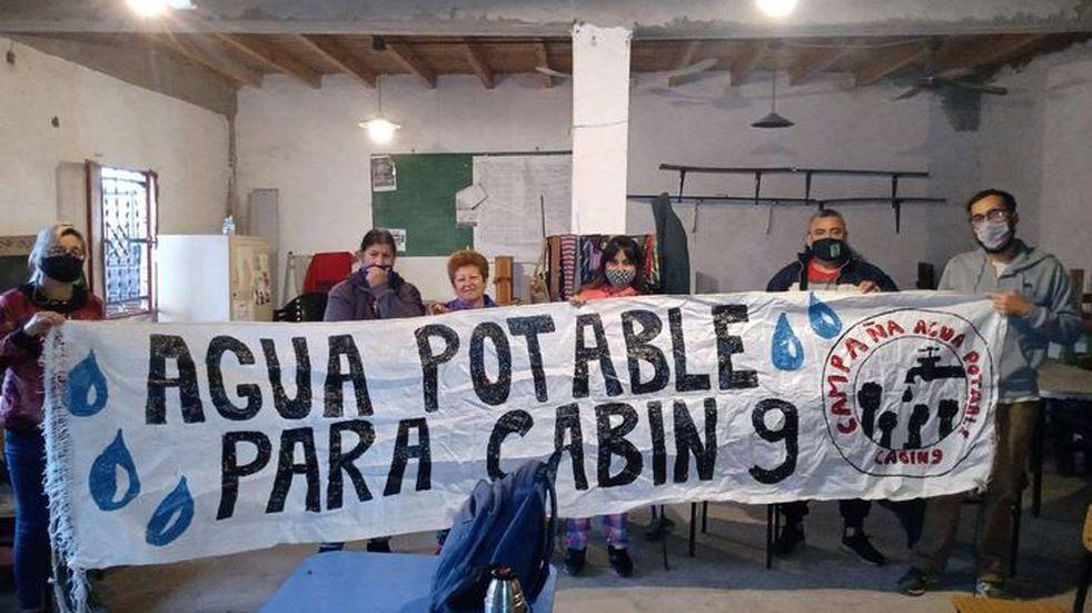 """Bajo el lema """"Sumate a la campaña por el agua en Cabín 9″, vecinos de Pérez vuelven a la lucha"""