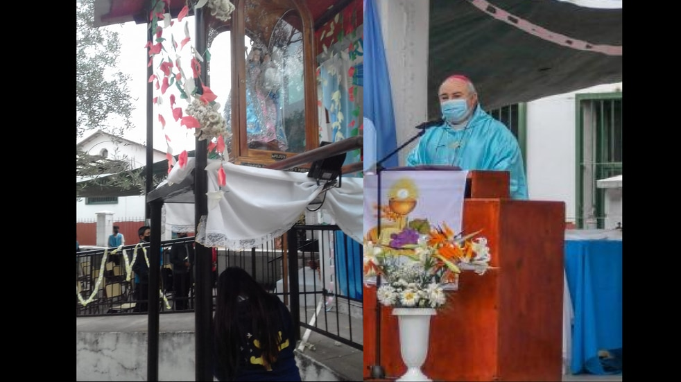 Este domingo volvió la presencialidad al santuario de la Virgen de Río Blanco y Paypaya con la concurrencia de la feligresía jujeña.