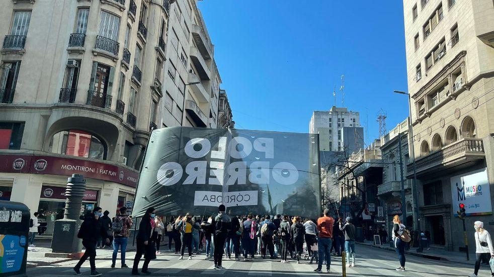 Caos de tránsito por marchas del Polo Obrero de Córdoba y ATE