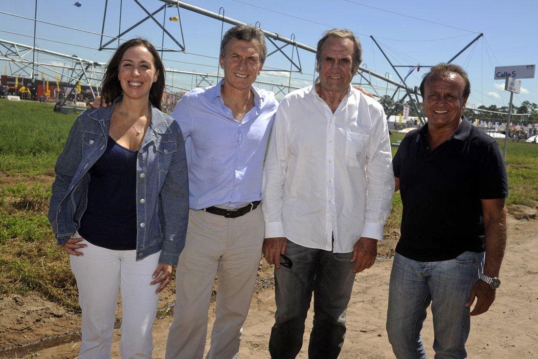 Carlos Reutemann junto a Mauricio Macri, María Eugenia Vidal y Miguel Del Sel (La Voz del Interior).