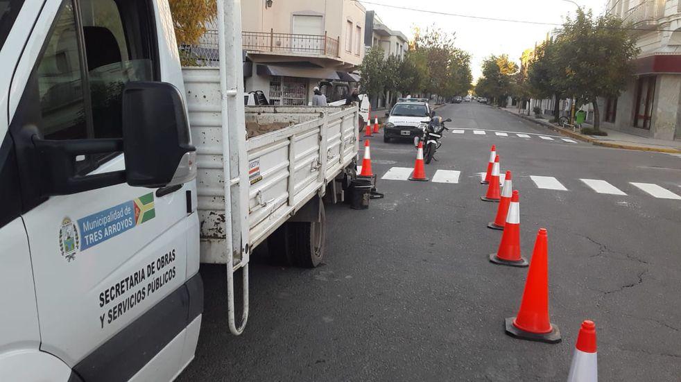 Diferentes tareas realiza la Secretaría de Obras y Servicios Públicos