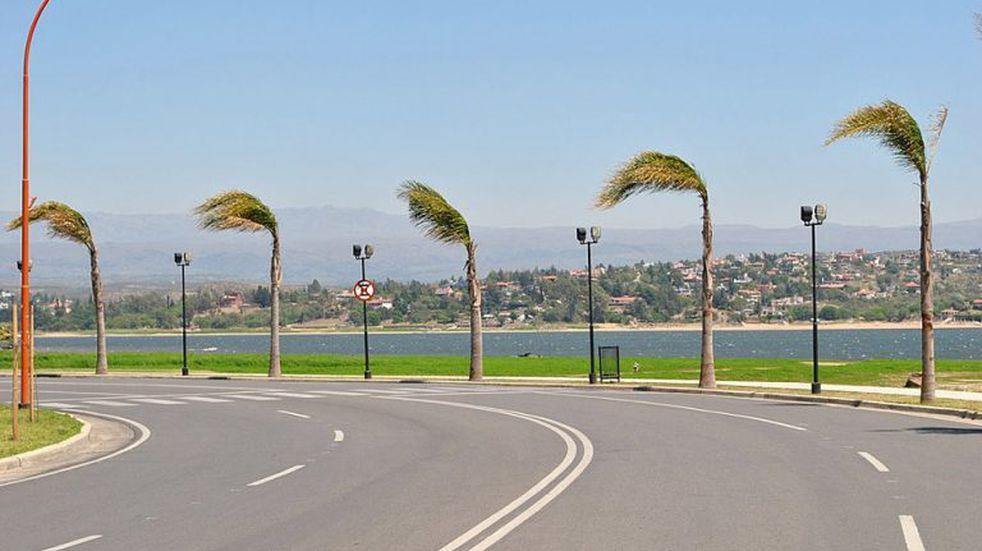 Alerta por vientos fuertes para el Valle de Punilla