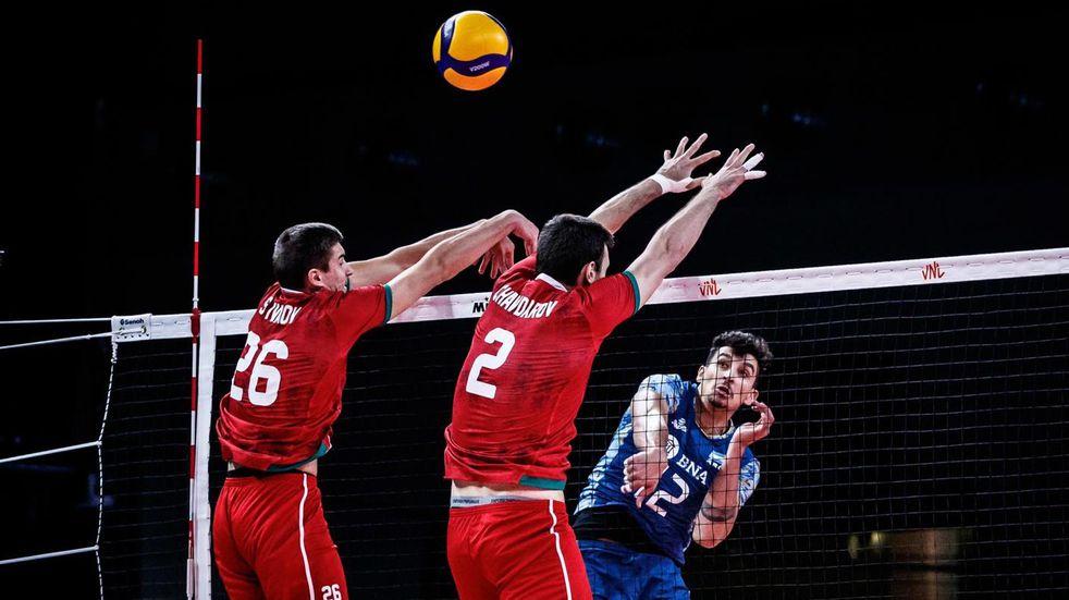 Vóley: Argentina derrotó a Bulgaria y sumó su tercer triunfo consecutivo