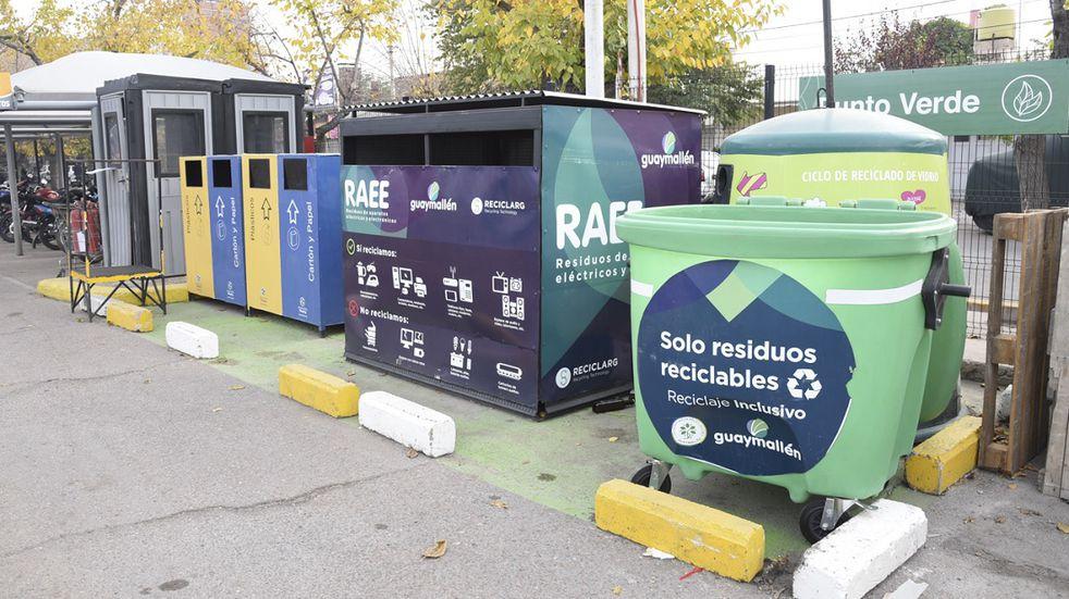 Suman nuevos lugares de recolección de residuos reciclables en Guaymallén