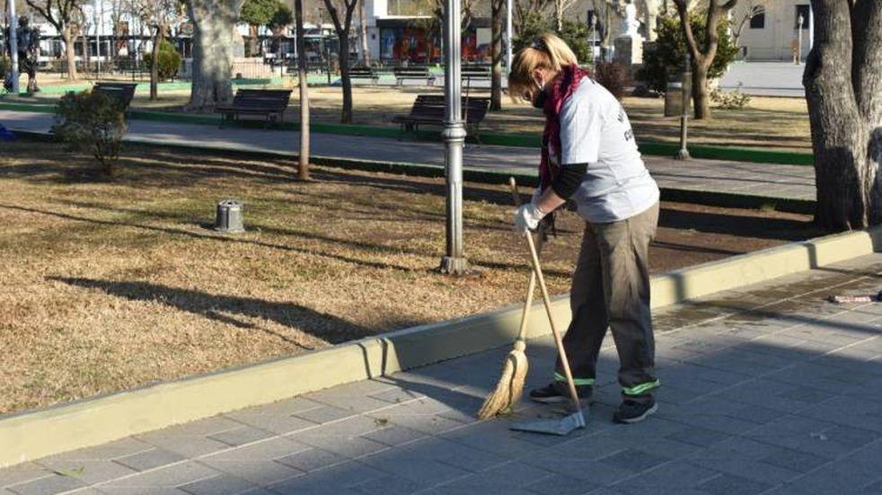 Trabajos para mantener limpia la ciudad