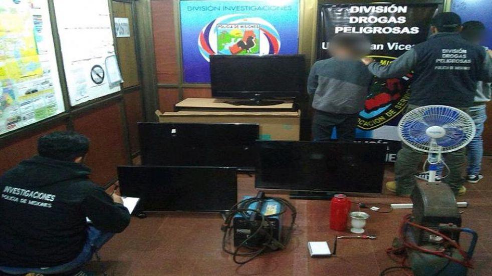 San Vicente: dos jóvenes detenidos por comercializar elementos robados