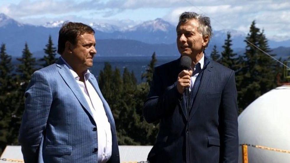 Macri hizo su primera aparición en Bariloche e inauguró una obra de gas