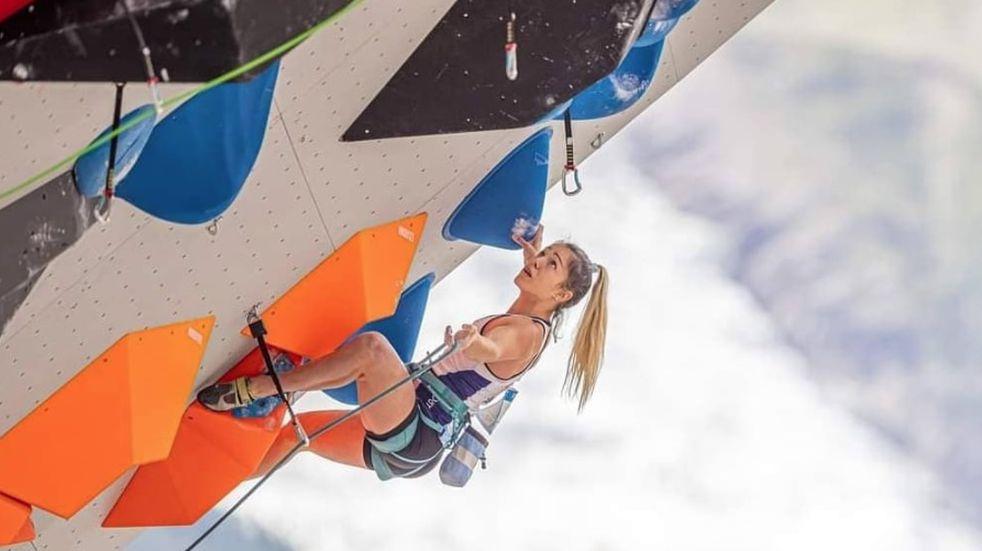 Valentina Aguado cerró su circuito de escalada en Europa y piensa en Rusia