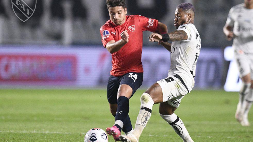Copa Sudamericana: Independiente cayó 1-0 ante Santos por la ida de los octavos de final