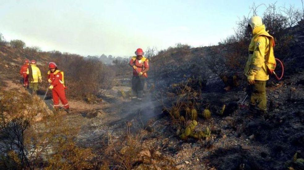 Este lunes quedaban todavía 7 focos de incendio en el Cerro Arco