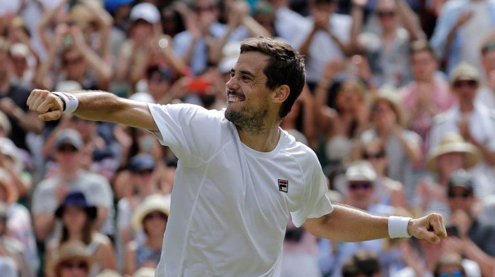Guido Pella venció a Kevin Anderson y se metió en octavos de final de Wimbledon
