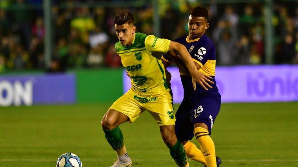 Boca ganó 1-0 a Defensa y Justicia y es único puntero de la Superliga