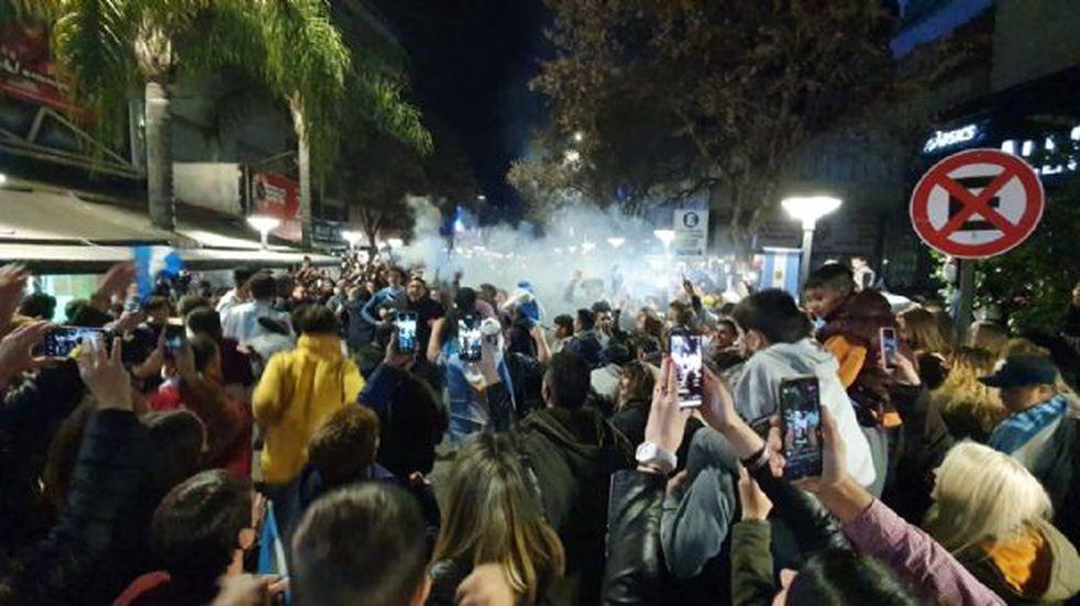Argentina Campeón de América: festejos en Carlos Paz