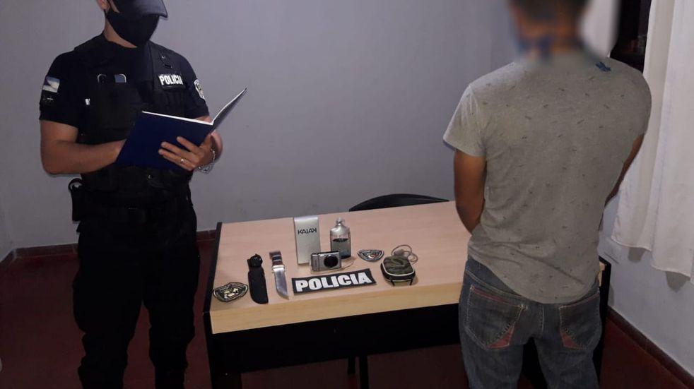 San Vicente: terminó detenido luego de robarle varios objetos a su vecino
