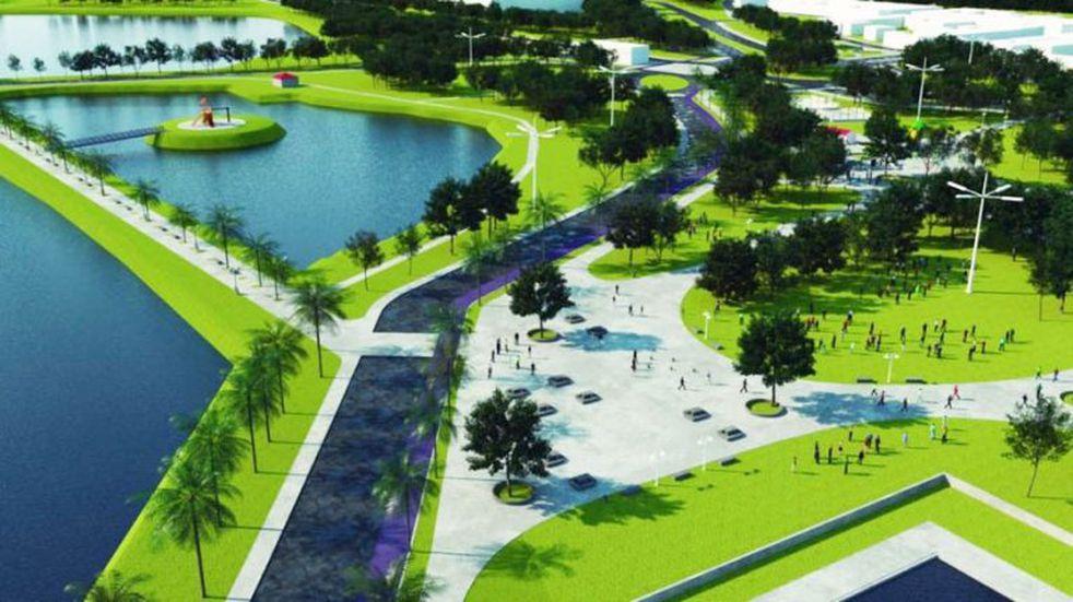 Iniciaron la ejecución del proyecto del Parque Hídrico Don Tomás en Santa Rosa